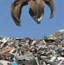 Recycling rubbish tip