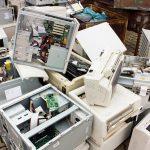 e waste pile